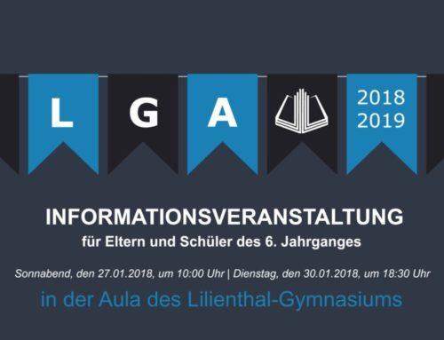 Informationsveranstaltungen für Eltern und Schüler des 6. Jahrganges