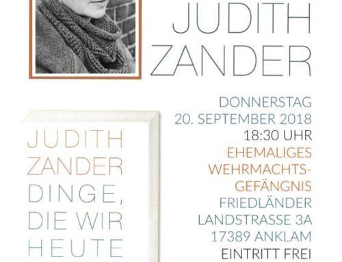 Lesung mit Judith Zander