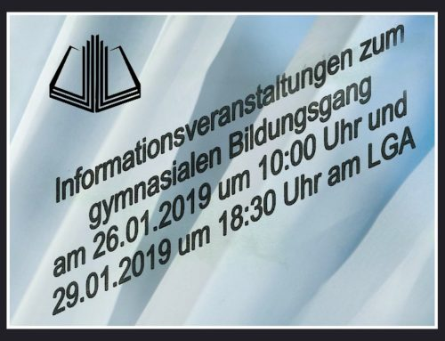 Einladung zu den Infoveranstaltungen am LGA