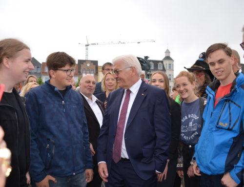 Der Bundespräsident und das ZDF Morgenmagazin in Anklam